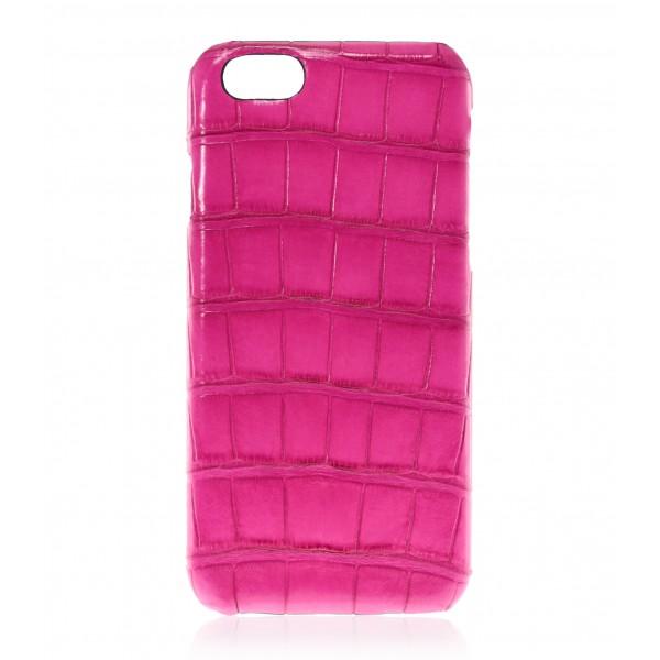 2 ME Style - Case Croco Fuchsia - iPhone 8 / 7 - Leather Cover