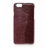 2 ME Style - Cover Lucertola Bordeaux Lisse Glossy - iPhone 8 / 7 - Cover in Pelle