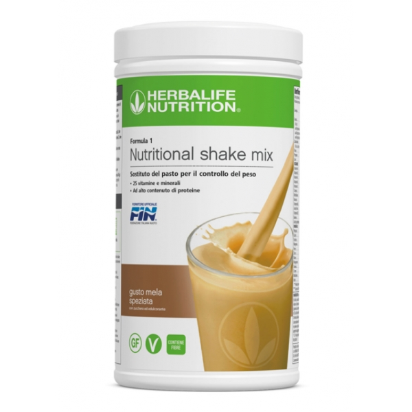 Herbalife Nutrition - Herbalife Formula 1 Shake Meal Replacement - Spiced Apple - Food Supplement