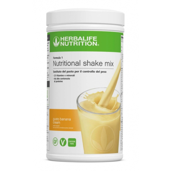 Herbalife Nutrition - Herbalife Formula 1 Shake Meal Replacement - Banana Cream - Food Suppment