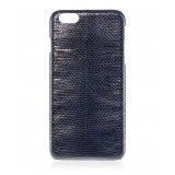 2 ME Style - Case Lizard Dark Blue Glossy - iPhone 8 / 7 - Leather Cover