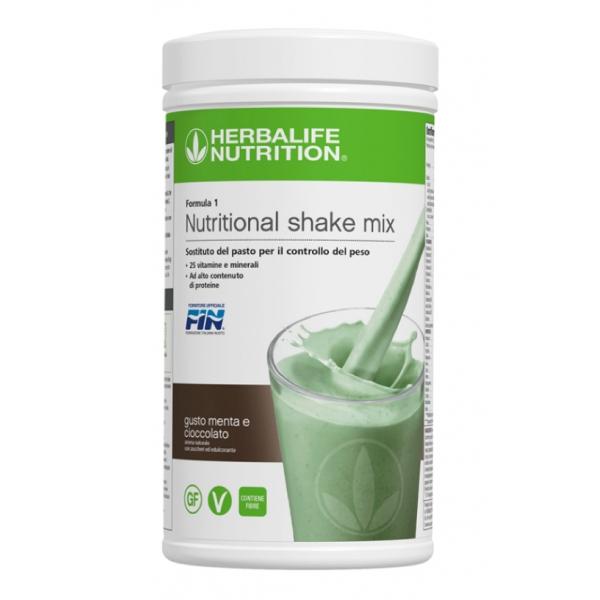 Herbalife Nutrition - Formula 1 Sostituto del Pasto - Menta e Cioccolato - Integratore Alimentare
