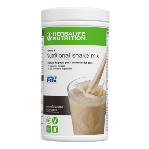 Herbalife Nutrition - Herbalife Formula 1 Shake Meal Replacement - Cookie Crunch Flavor - Food Suppment