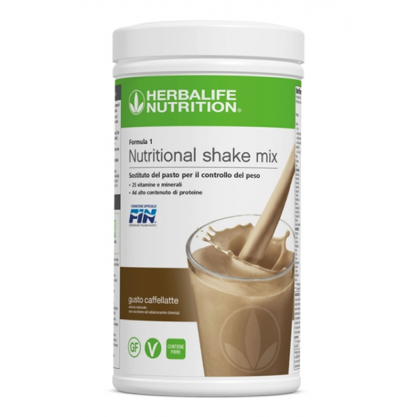 Herbalife Nutrition - Herbalife Formula 1 Shake Meal Replacement - Café Latte - Food Suppment