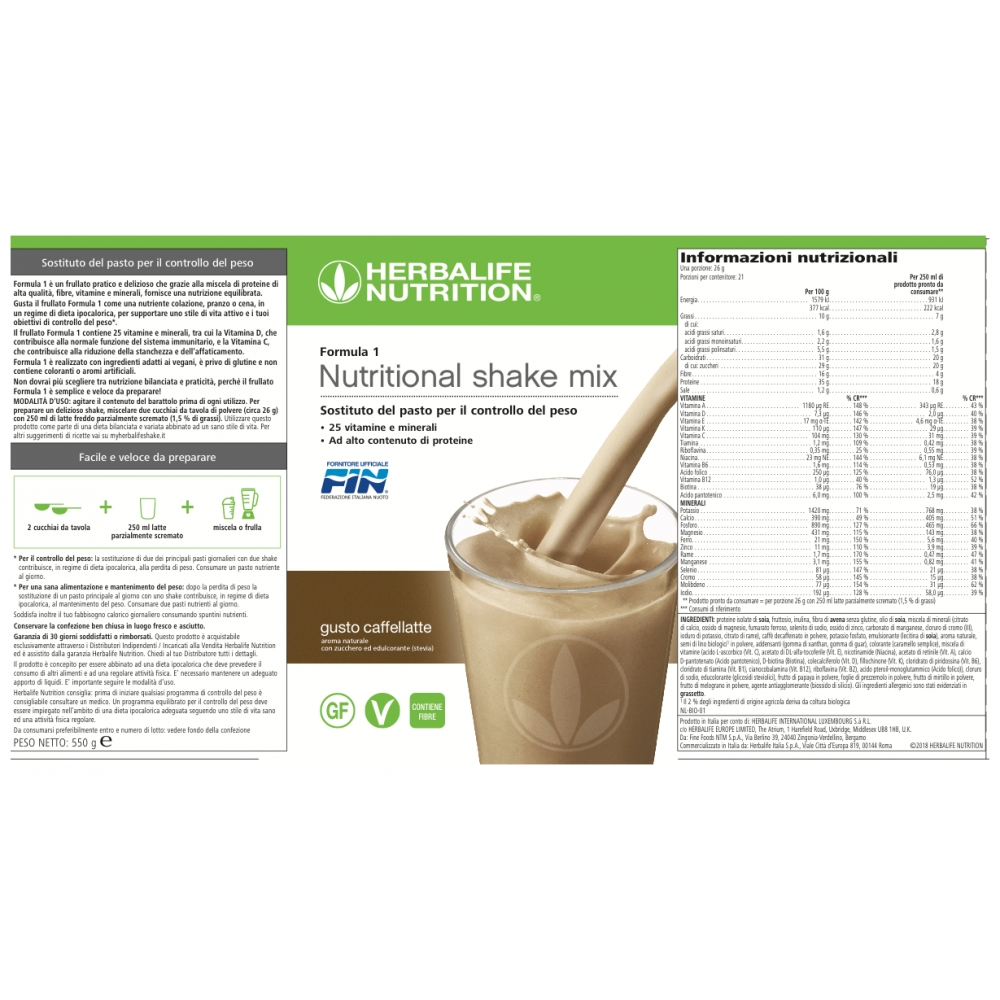 Herbalife Nutrition Herbalife Formula 1 Shake Meal Replacement