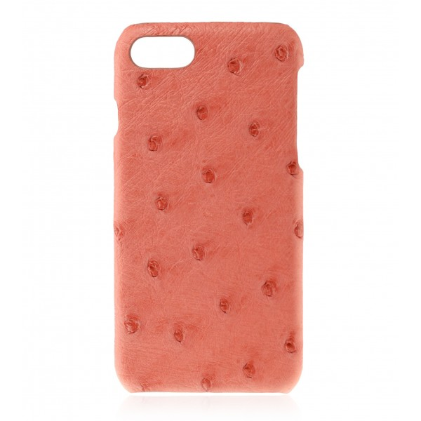 2 ME Style - Case Ostrich Begonia - iPhone 8 / 7 - Leather Cover