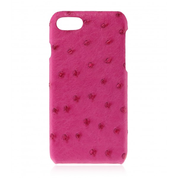 2 ME Style - Case Ostrich Cyclamen - iPhone 8 / 7 - Leather Cover