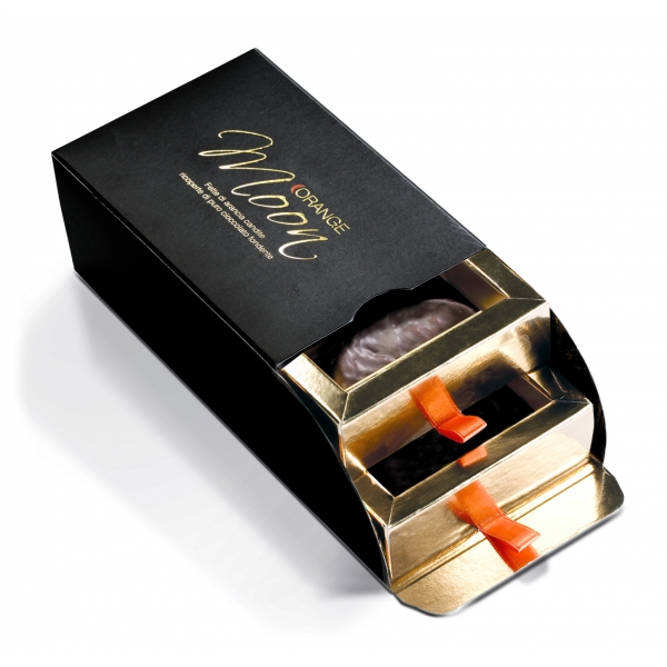 Orange Moon - Black - Orange Moon Black - Candied Orange Slices Covered Dark Chocolate - 200 g