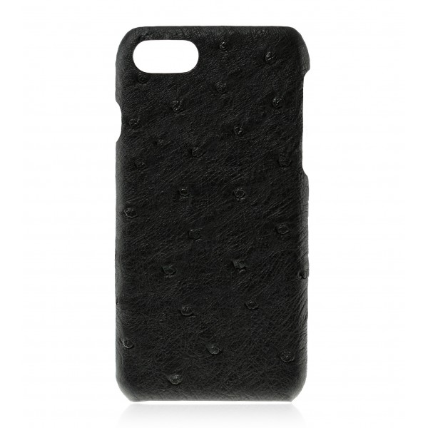 2 ME Style - Case Ostrich Noir - iPhone 8 / 7 - Leather Cover