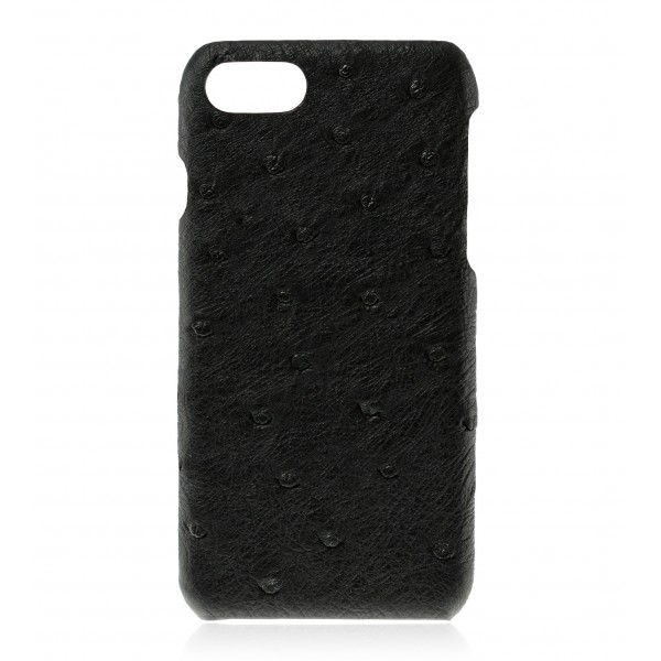 2 ME Style - Cover Struzzo Noir - iPhone 8 / 7 - Cover in Pelle