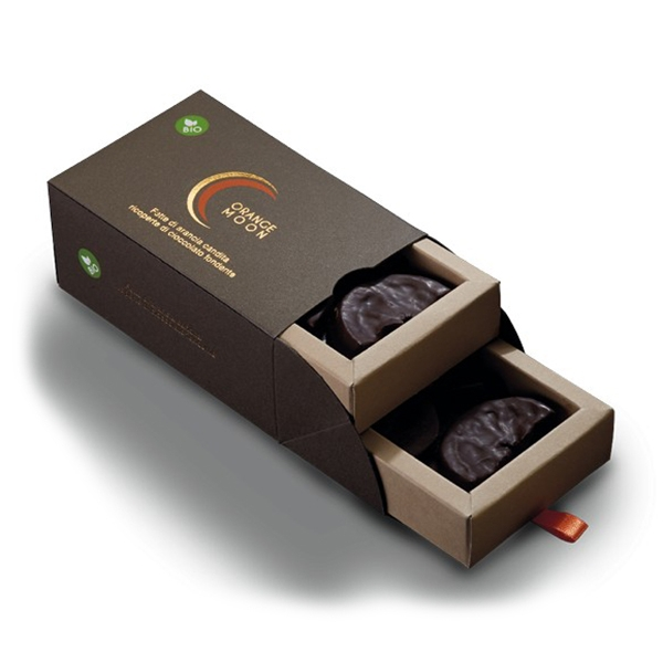 Orange Moon - Bio - Orange Moon Bio - Candied Orange Slices Covered with Dark Chocolate - 200 g
