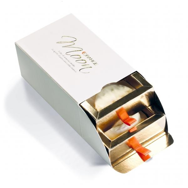 Orange Moon - Bianco - Orange Moon Bianco - Arancia Candita e Ricoperta di Cioccolato Bianco - 200 g