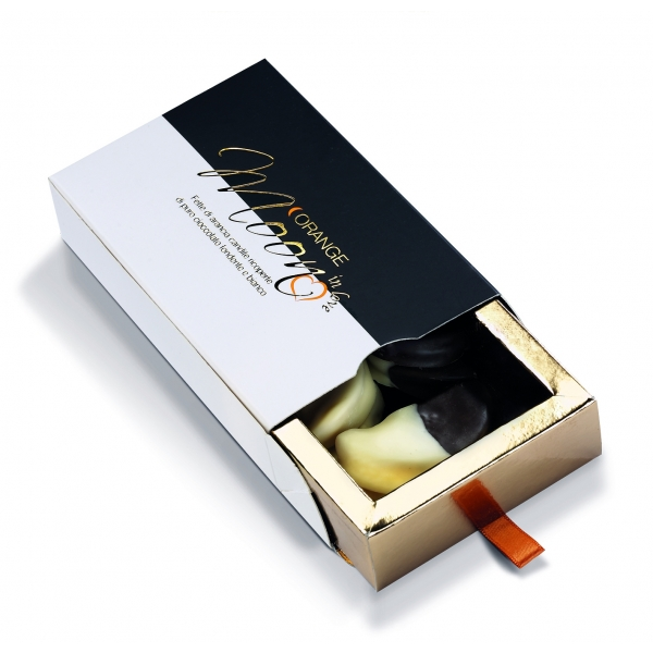 Orange Moon - In Love - Orange Moon In Love - Candied Orange Slices Covered with Dark and White Chocolate - 100 g