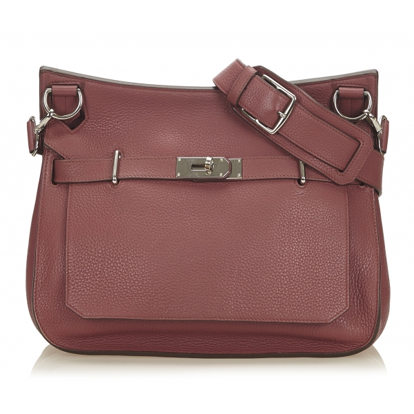 Hermès Vintage - Clemence Jypsiere 34 Bag - Rosa - Borsa in Pelle e Vitello - Alta Qualità Luxury
