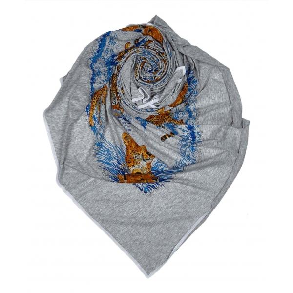 Hermès Vintage - Les Plumes Silk Scarf - Grey Multi - Silk Foulard - Luxury High Quality