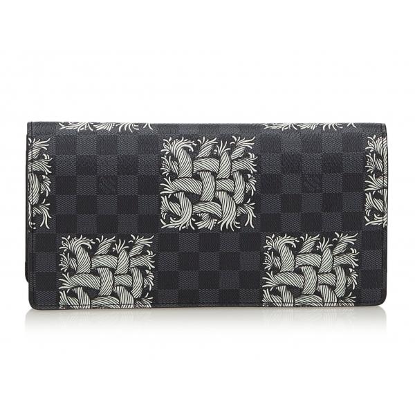 Louis Vuitton Vintage - Damier Graphite Portefeuille Brazza Christopher Nemeth Wallet - Portafoglio - Alta Qualità Luxury