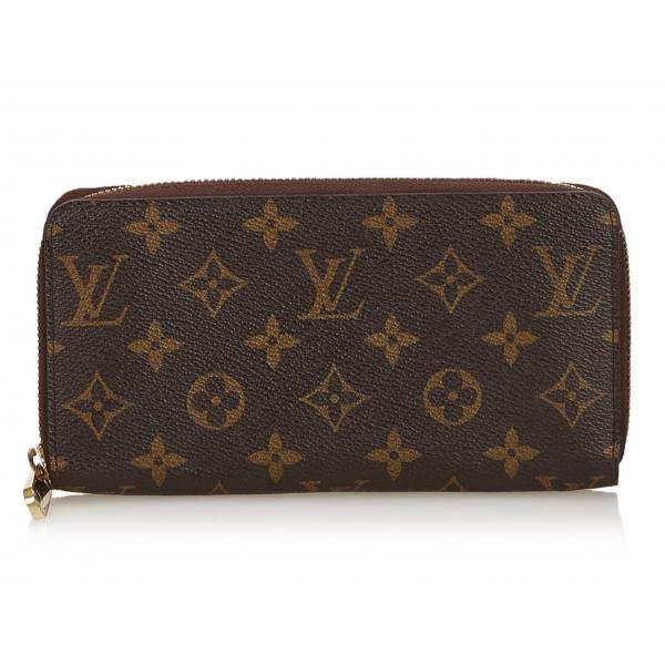Louis Vuitton Vintage - Monogram Zippy Wallet - Marrone - Portafoglio in Pelle e Tela Monogramma - Alta Qualità Luxury