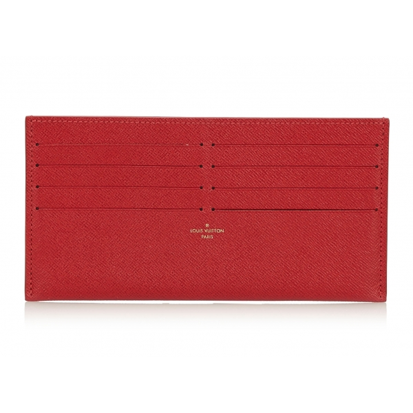 Louis Vuitton Vintage - Taiga Pochette Felicie Insert Wallet - Red - Taiga Leather and Leather Pochette - Luxury High Quality