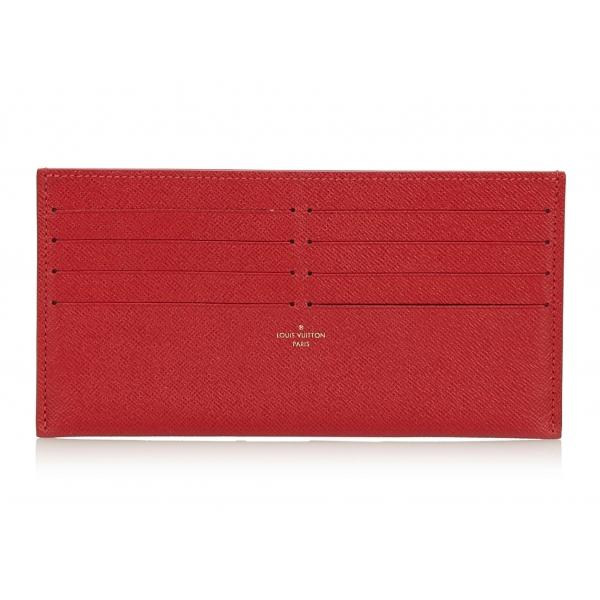 Louis Vuitton Vintage - Taiga Pochette Felicie Insert Wallet - Rossa - Pochette in Pelle Taiga e Pelle - Alta Qualità Luxury