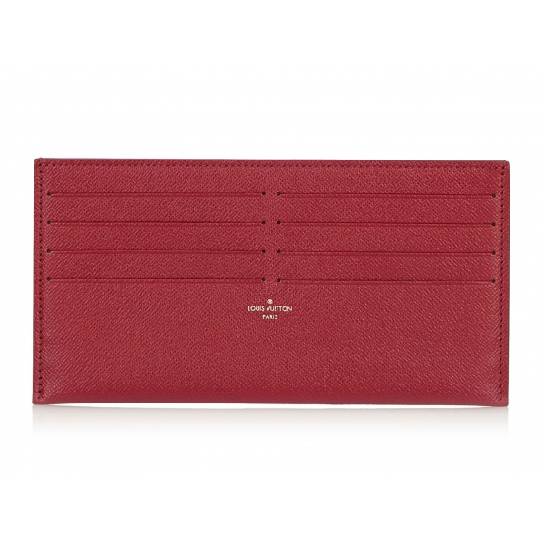 Louis Vuitton Vintage - Taiga Pochette Felicie Insert Wallet - Pink - Taiga Leather and Leather Pochette - Luxury High Quality