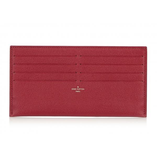 Louis Vuitton Vintage - Taiga Pochette Felicie Insert Wallet - Rosa - Pochette in Pelle Taiga e Pelle - Alta Qualità Luxury