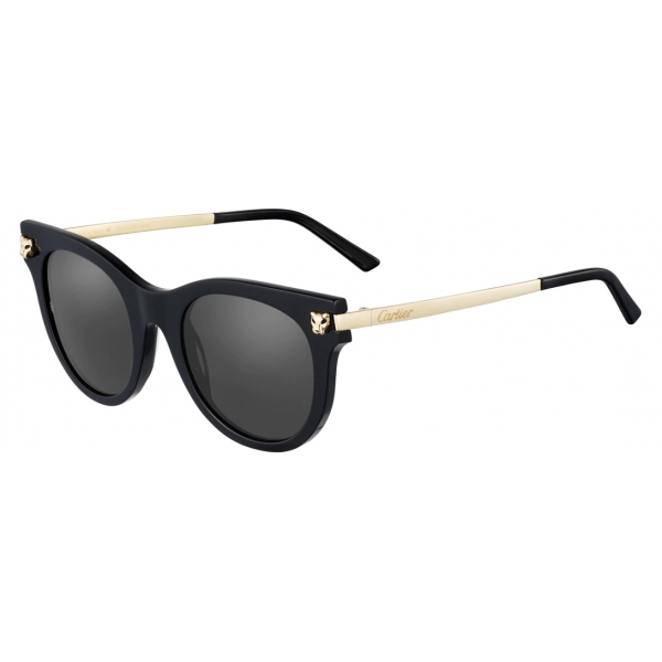 Cartier - Classic - Combined Metal Gold Finish Champagne - Panthère de Cartier - Sunglasses - Cartier Eyewear