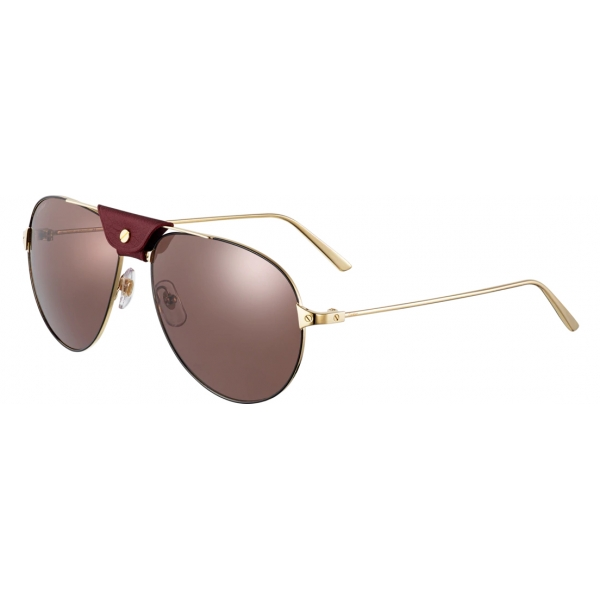 Black De Aviator Cartier Champagne Metal Bordeaux Eyewear Santos Sunglasses 7f6bYvgy