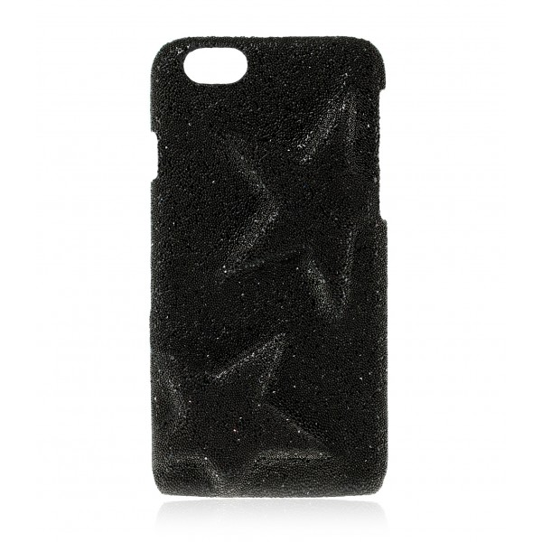 2 ME Style - Case Rebel Crystal Fabric Black Star - iPhone 8 / 7 - Crystal Cover
