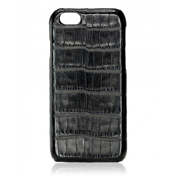 2 ME Style - Cover Croco Nero - iPhone 8 Plus / 7 Plus - Cover in Pelle