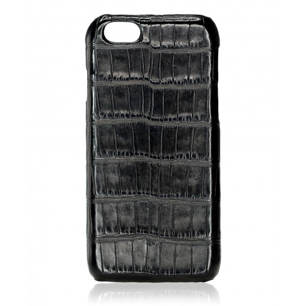 2 ME Style - Case Croco Black - iPhone 8 Plus / 7 Plus - Leather Cover