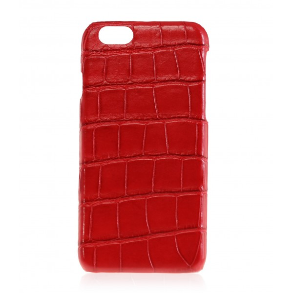 2 ME Style - Cover Croco Rouge Vif - iPhone 8 Plus / 7 Plus - Cover in Pelle
