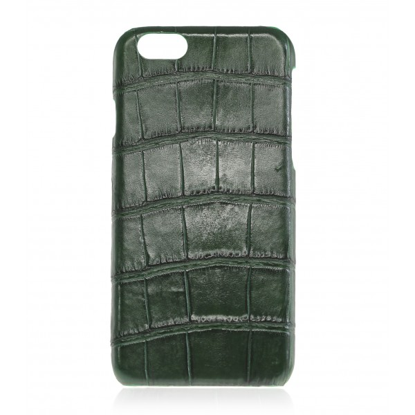 2 ME Style - Cover Croco Vert Bouteille - iPhone 8 Plus / 7 Plus - Cover in Pelle