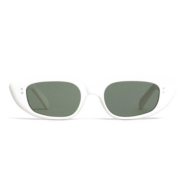 Céline - Oval Cay-Eye Sunglasses in Acetate - White - Sunglasses - Céline Eyewear
