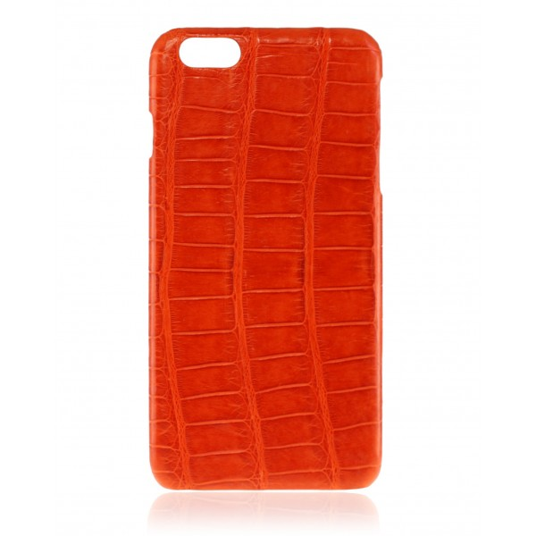2 ME Style - Case Croco Tangerine - iPhone 8 Plus / 7 Plus - Leather Cover