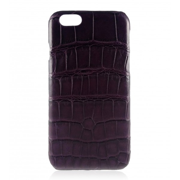 2 ME Style - Case Croco Dark Violet - iPhone 8 Plus / 7 Plus - Leather Cover