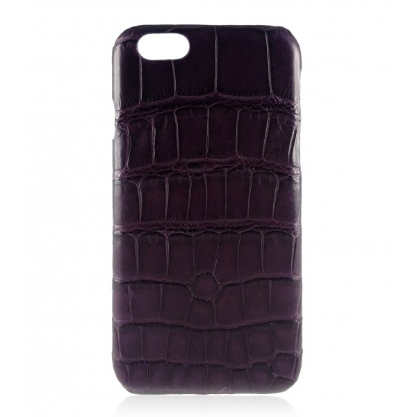 2 ME Style - Cover Croco Dark Violet - iPhone 8 Plus / 7 Plus - Cover in Pelle