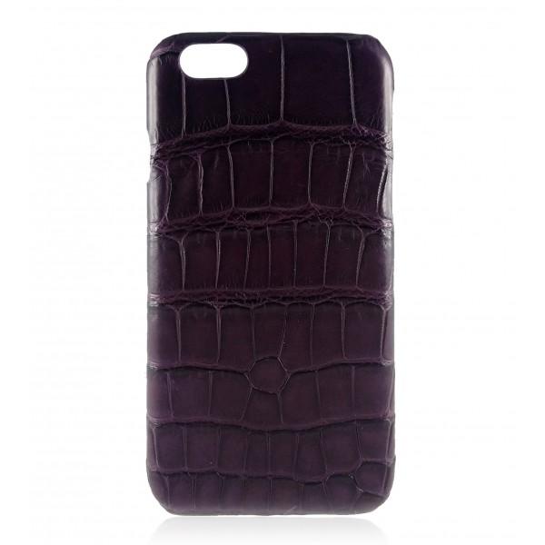 2 ME Style - Cover Croco Dark Violet - iPhone 8 Plus / 7 Plus - Cover in Pelle