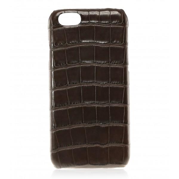 2 ME Style - Case Croco Marron - iPhone 8 Plus / 7 Plus - Leather Cover