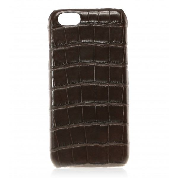 2 ME Style - Cover Croco Marron - iPhone 8 Plus / 7 Plus - Cover in Pelle