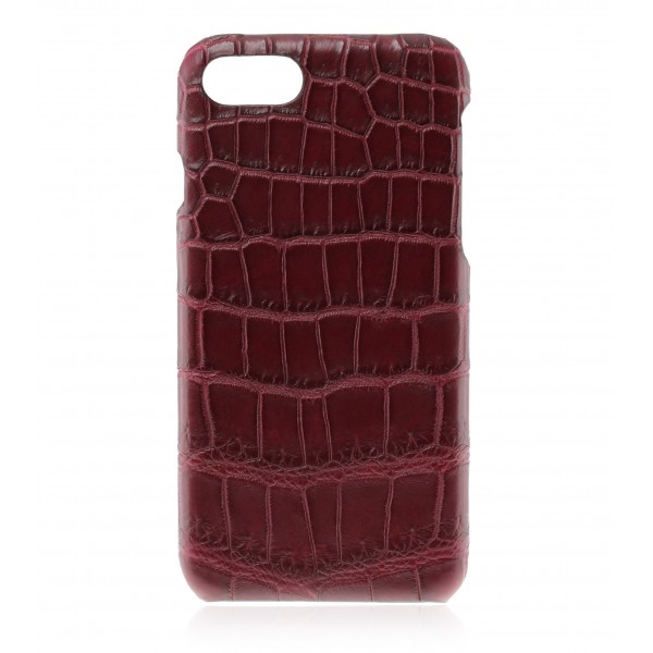 2 ME Style - Cover Croco Bordeaux - iPhone 8 Plus / 7 Plus - Cover in Pelle