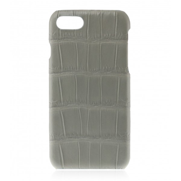 2 ME Style - Cover Croco Gris Clair - iPhone 8 Plus / 7 Plus - Cover in Pelle