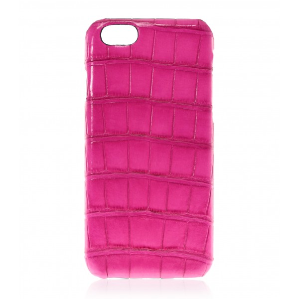 2 ME Style - Case Croco Fuchsia - iPhone 8 Plus / 7 Plus - Leather Cover