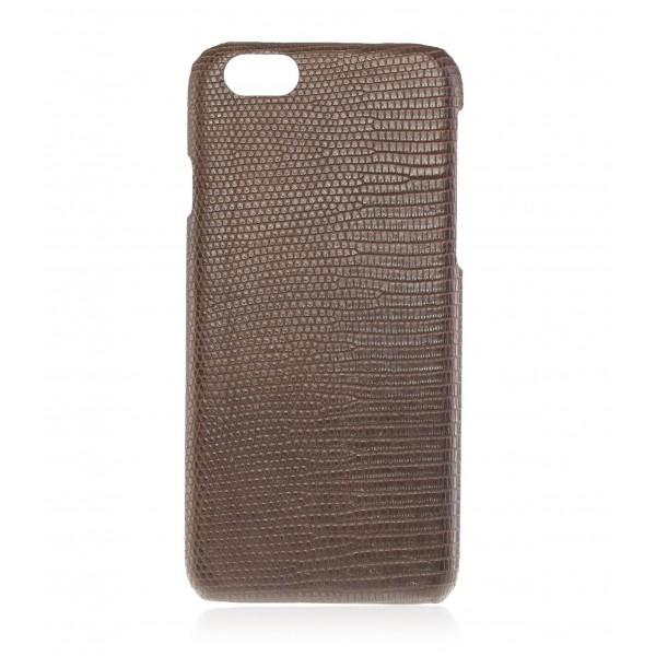 2 ME Style - Cover Lucertola Moro Safary Matt - iPhone 8 Plus / 7 Plus - Cover in Pelle