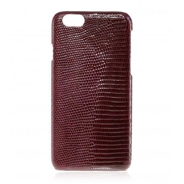 2 ME Style - Cover Lucertola Bordeaux Lisse Glossy - iPhone 8 Plus / 7 Plus - Cover in Pelle