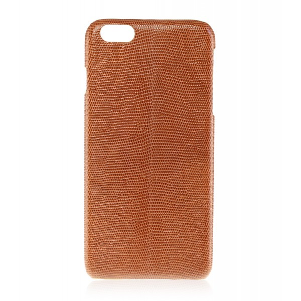 2 ME Style - Cover Lucertola Tan Millenium Glossy - iPhone 8 Plus / 7 Plus - Cover in Pelle
