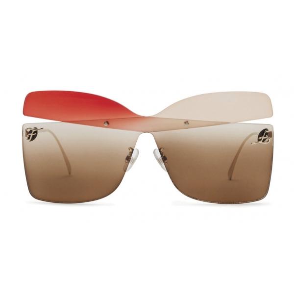 Fendi - Karligraphy - Occhiali da Sole a Farfalla - Oro Rosso Rosa - Occhiali da Sole - Fendi Eyewear