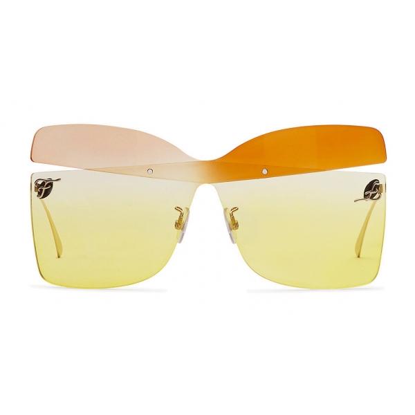 Fendi - Karligraphy - Occhiali da Sole a Farfalla - Oro Rosa Arancio - Occhiali da Sole - Fendi Eyewear