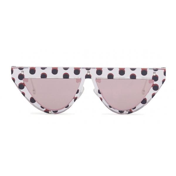 Fendi - DeFender - Occhiali da Sole Flat Top - Pois - Occhiali da Sole - Fendi Eyewear