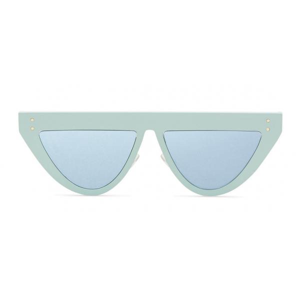 Fendi - DeFender - Occhiali da Sole Flat Top - Verde Acqua - Occhiali da Sole - Fendi Eyewear