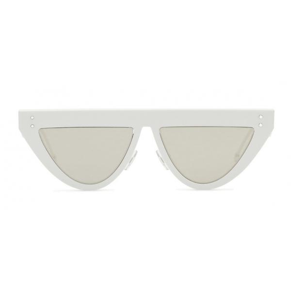 Fendi - DeFender - Occhiali da Sole Flat Top - Bianchi - Occhiali da Sole - Fendi Eyewear